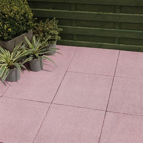 Red Textured Paving Slab (L)600 (W)600mm Pack of 20, 7.2
