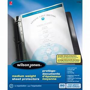 Wilson jones clear letter size sheet protectors grand toy for Letter size sheet protectors