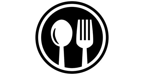 Restaurant Cutlery Circular Symbol Of A Spoon And A Fork