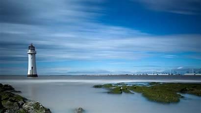 Lighthouse 4k Sea Desktop Background Landscape Harbor