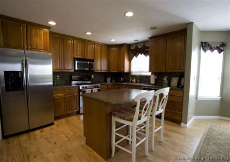pictures  kitchens traditional medium wood cabinets brown page