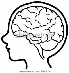 Child Head with Brain Clip Art