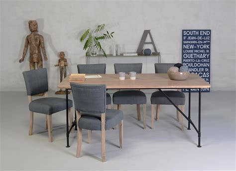 chaises style industriel table style industriel tribeca table en bois brut et métal