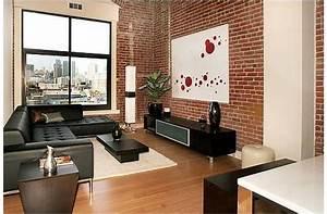 Rouge Brique Avec Quelle Couleur : d co salon brique rouge exemples d 39 am nagements ~ Melissatoandfro.com Idées de Décoration