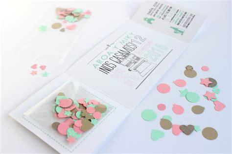 c 211 mo hacer invitaciones de boda originales 161 con confeti handbox craft comunidad diy