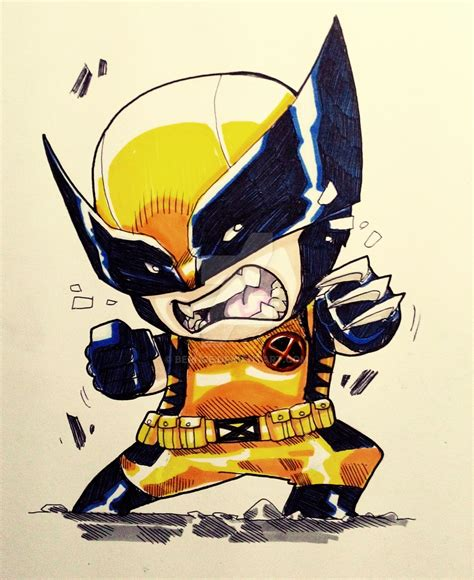 Chibi Wolverine By Bernce On Deviantart