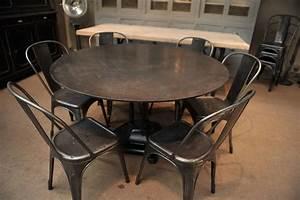 Table A Manger Industrielle : brillant table salle a manger ronde industrielle haute ~ Melissatoandfro.com Idées de Décoration