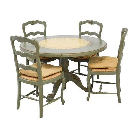 hand painted country style kitchen table