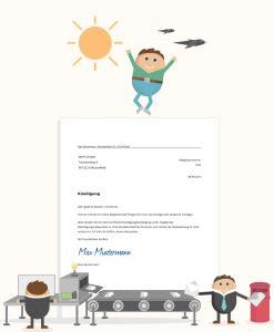 kuendigungsschreiben vorlage kostenloses muster zum