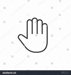Palm Hand Line Icon Outline Vector Stock Vector 517531210 ...