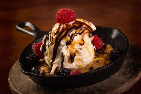 dessert photography ice cream sundae  frying pan