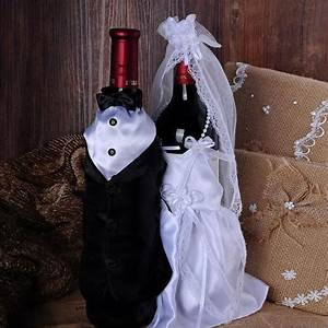 new style wedding decorations bride and groom dress wine With decorating wedding glasses for bride and groom