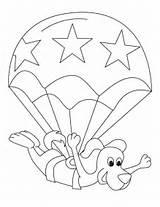 Parachute Coloring Pages Colouring Toodler Template ðºð ðºn Popular Sketch sketch template