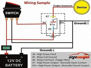 5 Pin Relay Wiring Diagram Driving Lights