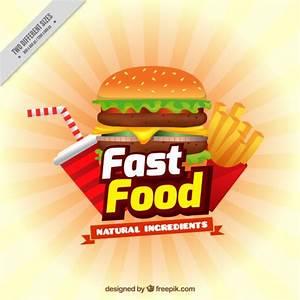 Menú de comida rápida Descargar Vectores gratis