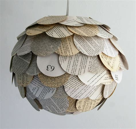 the manhasset mixed book page pendant light hanging paper