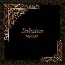 invitation design golden design invitation template vector free