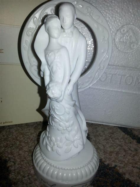hallmark wedding cake topper bride groom figurine anniversary gift porcelain  ebay