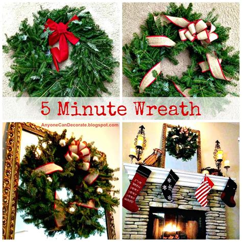 decorate  minute christmas wreath