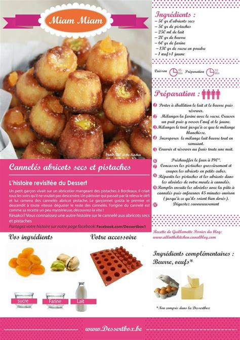 recette de cuisine tf1 cannelés abricots secs et pistaches dessertbox all in the kitchen etc