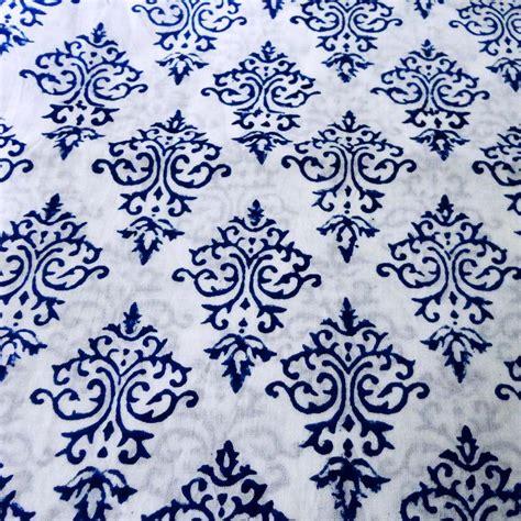 print on fabrics block print fabric indigo fabric raj paisley damask print floral print and machine printed