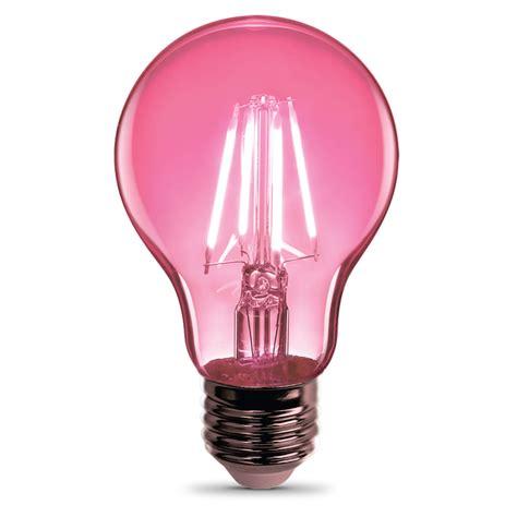 a19 clear glass pink susan g komen led bulb feit electric