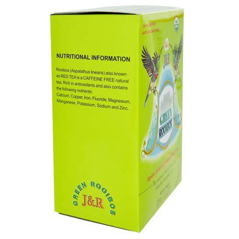 is green tea caffeine free port trading co green rooibos caffeine free 40 tea bags 3 53 oz 100 g iherb com