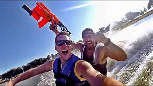 Nerf Blasters: Lake House Edition | Dude Perfect - YouTube