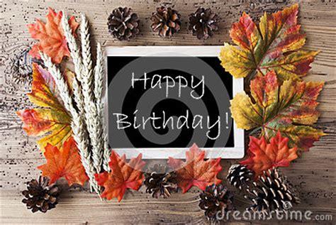 chalkboard  autumn decoration happy birthday stock