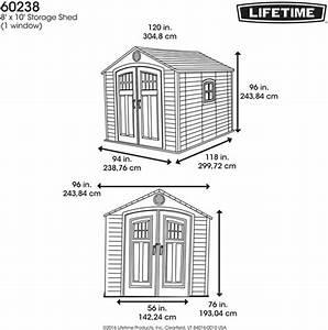 Lifetime 8x10 Storage Shed Kit W   Horizontal Siding  60238