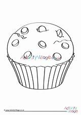 Colouring Muffin Pages Food Activity Village Explore Colour Activityvillage sketch template