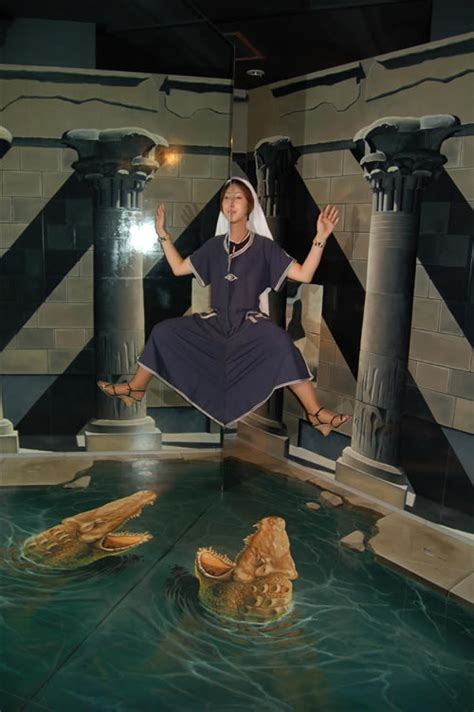 lunatica desnuda  takao trick art museum optical