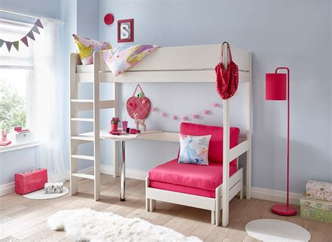 tinsley highsleeper  desk pink  white dreams