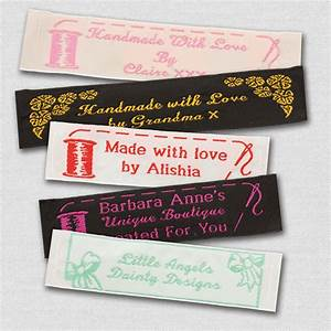 50 personalized sewing labels 1 wide 100 woven for Custom woven sewing labels