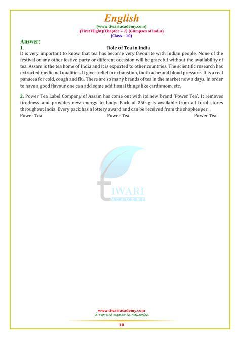 ncert solutions  class  english  flight chapter
