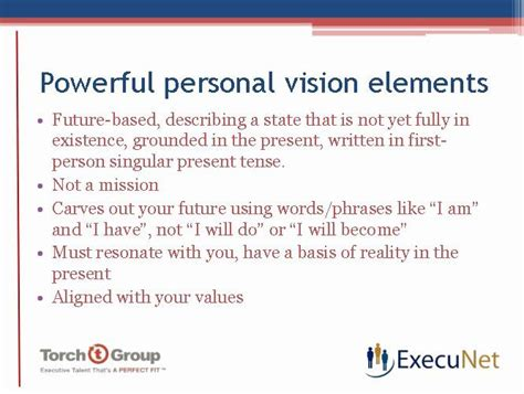 personal vision statement examples business beautiful