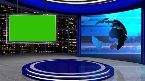 Digital Tv Wallpaper by News Tv Studio Set 24 Green Screen Background Loop