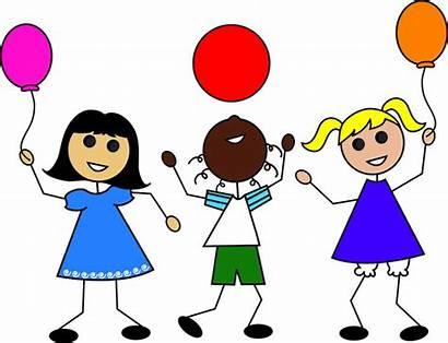 Clipart Playing Summer Clip Children Cartoon Preschool