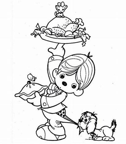Coloring Thanksgiving Pages Dinner Turkey Kid Canada