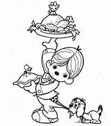 Thanksgiving Coloring Dinner Pages Turkey Kid Canada Little Drawing Preparing Lifting Pilgrim Boy Indian Outline Wishbone Netart Sketch Plate Giving sketch template