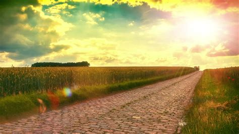 walking  country road  stock footage video