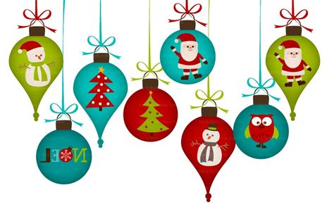 christmas ornaments clipart divider  clipart