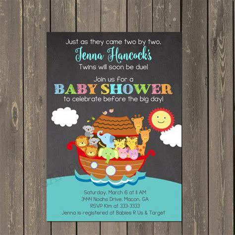 Noah S Ark Baby Shower Theme by Noah S Ark Invitation Noahs Ark Baby Shower By