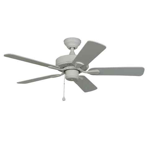 42 flush mount ceiling fan shop harbor breeze classic 42 in white downrod or flush