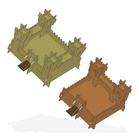 Handmade from north carolina walnut. Toy castle plan