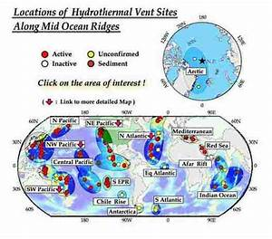 Map and Factors - Hydrothermal Vents