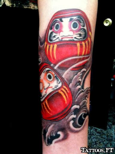 simple daruma doll tattoos