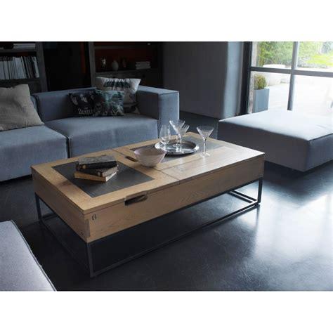 table basse avec plateau relevable table basse atelier plateau relevable meubles rigaud
