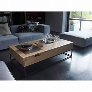 Table Basse Tv : table basse atelier plateau relevable meubles rigaud ~ Melissatoandfro.com Idées de Décoration