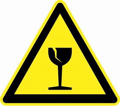 Hazard Warning Signs Fragile Clipart Breakable Zerbrechlich